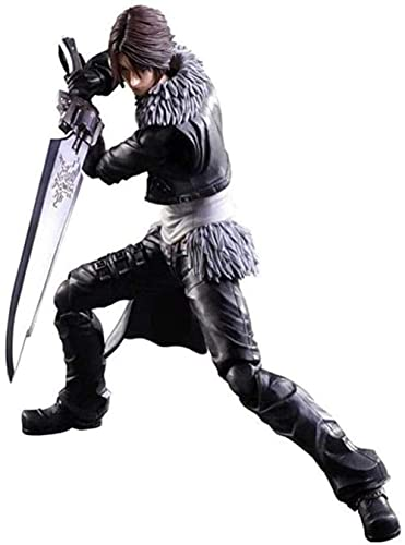 Siyushop Dissidia Final Fantasy Play Play Art Kai Regalo de cumpleaños: Squall Leonhart Figura de acción - Equipado con Armas y Manos Intercambiables - Altura 28 cm LIB444