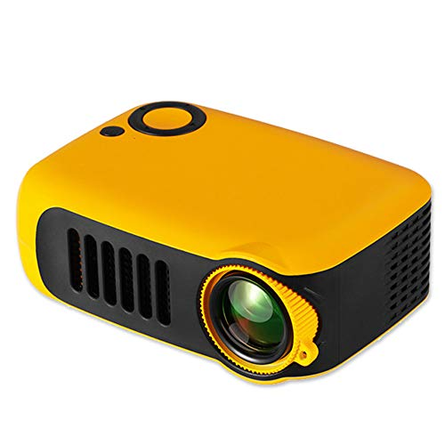 Kids Projector,iRULU Mini Portable Video Movie Projector,Home Theater Palm Size Projector with HDMI Headphone for Kids Children Education Orange