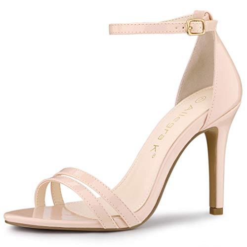 allegra k stilettos Allegra K Women's Double Strap Stiletto High Heels Heel Sandals