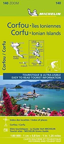 Michelin ZOOM Corfu and the Ionian Islands Map 140: Greece