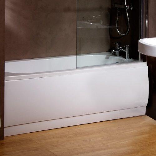 White Acrylic 1700 Panel do kąpieli czołowej (regulowany rozmiar*) do pistoletu do kąpieli Bathroom Soaking Tub (wymiary - wysokość: 520 mm, długość: 1700 mm * może być przycięty do mniejszych łazienek) by Better Bathrooms ®