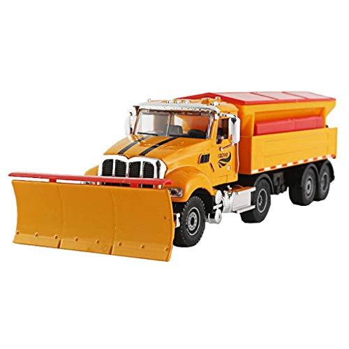 Escala 1:50 Modelo de fundición a presión Modelo de automóvil / compatible con el modelo de vehículo de palas de nieve / La pala de nieve se puede girar puede deslizarse el modelo de vehículo de boqui