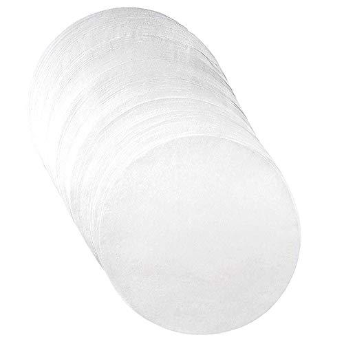 Gaoominy Papel de Aceite de Silicona CíRculos para Hornear Revestimientos de Papel para Hornear de 9 Pulgadas Horno de Cocina Freidora de Aire Tarta de Queso y Moldes para Pasteles Redondos