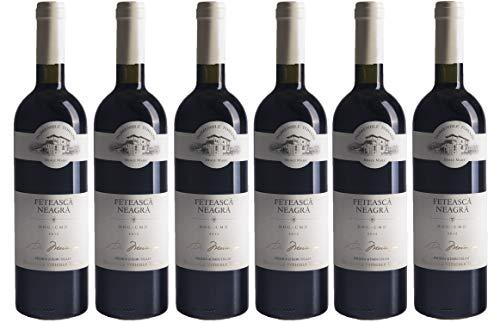 """Tohani   DOMENIILE TOHANI Feteasca Neagra - Rotwein halbtrocken aus Rumänien   Weinpaket 6 x 0.75 L DOC-CMD + 1 Kugelschreiber """"Amigo Spirits"""" gratis"""