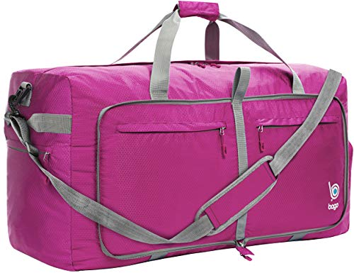 Bago 60L Bolsa de viaje plegable para mujer y hombre – 23 pulgadas (Pink), Mediano