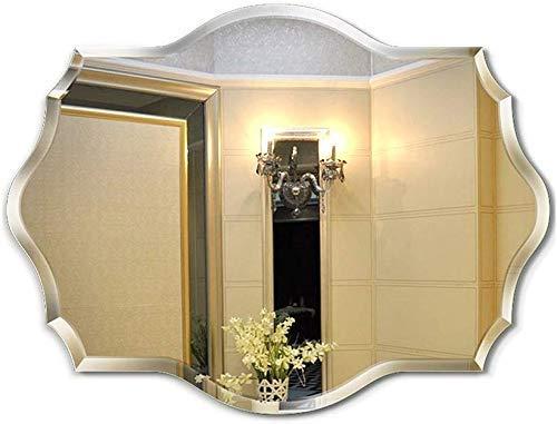 QGL-HQ Mural Suspendu Lavage des Mains Miroir Miroir européen Frameless Salle de Bain (Taille: 45 * 60 cm)