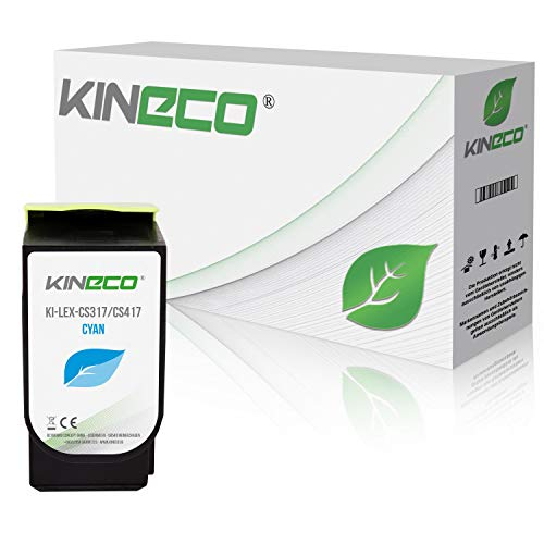 Kineco Toner kompatibel zu Lexmark CS317 für CS 317 DN CS 417 DN CS 517 DE CX 317 DN CX 417 DE CX 517 DE – 71B0020 Cyan 2.300 Seiten