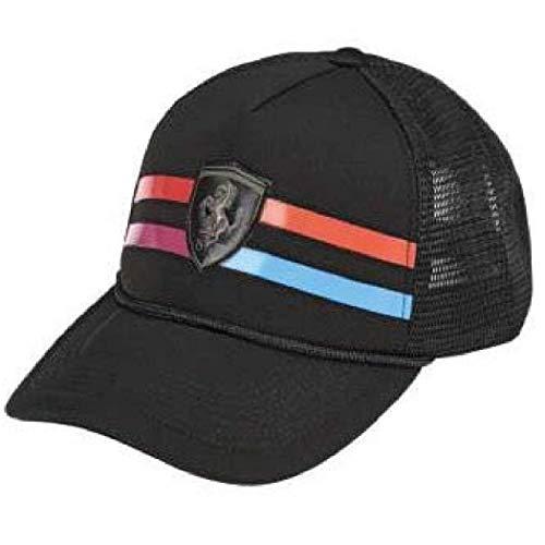 Ferrari Cap Mütze Basecap Damen schwarz mit bunten Streifen