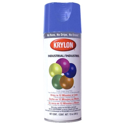 Krylon 1901 12-Oz Fast-Drying High Gloss Finish Spray Paint, Regal Blue