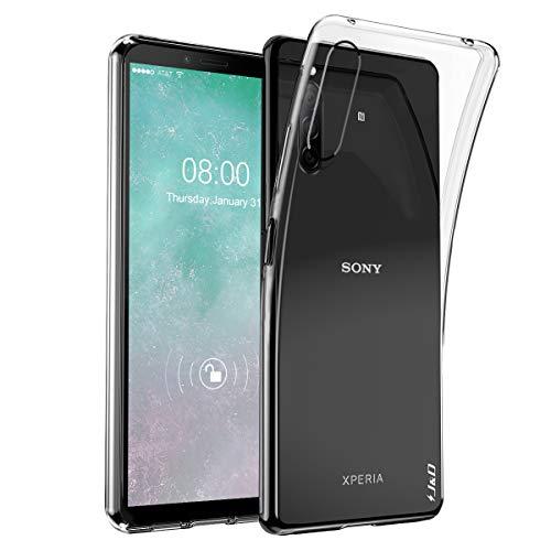 J&D Compatible pour Sony Xperia 10 II Etui, [Ultra Mince] [Léger] Ultra-Clair Résistant Aux Chocs Protecteur Mince Silicone Coque de Pare-Choc pour Sony Xperia 10 II Case - Transparente