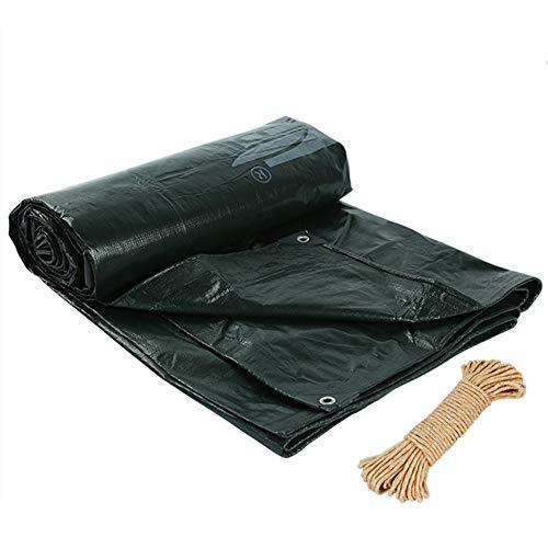 HCYTPL dekzeil voor buiten, waterdicht zonwering, vrachtwagenzeil, 175 g/m2, kleur: groen, maat: 7 x 9 m