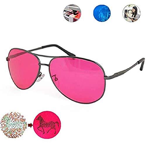Jakroo Korrekturfarbe Blinde Brille, Rot Grün Farbe Blindheitsbrille Mildes Medium Farbenblinde Brille für Männer und Frauen