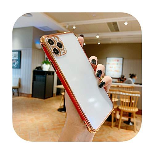 Carcasa para iPhone 11 Pro Max 7 8 Plus XS MAX XR X de lujo, chapado con purpurina galvanizada, color rojo