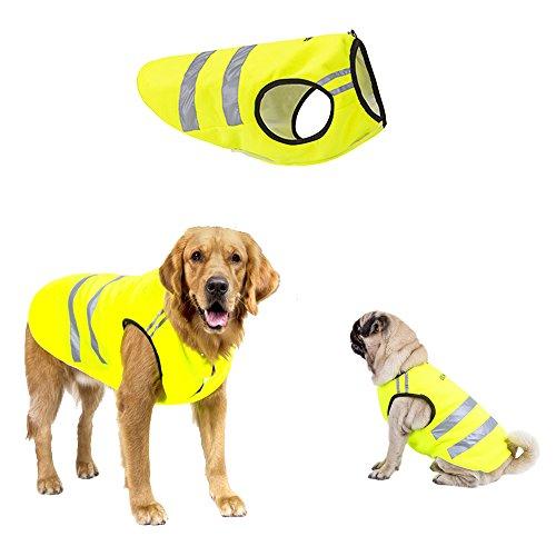 ALAMP Hunde Reflektorweste Warnweste Signalweste Jagdweste Hundeweste Leuchtweste