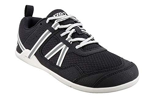 Xero Shoes Women's Prio Cross Training Shoe - Lightweight Zero Drop, Barefoot, Black/White, 10.5