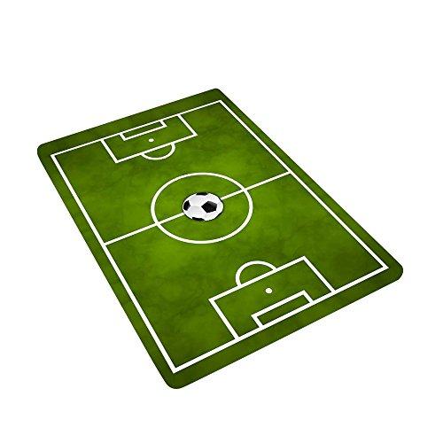 Lulalula - Alfombra de campo de fútbol para niños, suave, antideslizante, tamaño 50 x 80 cm