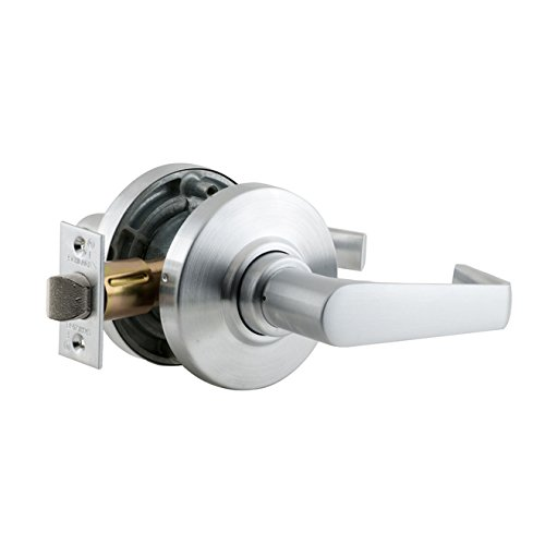 Schlage Commercial AL10SAT626 AL Series Grade 2 Cylindrical Lock, Passage Function, Saturn Lever Design, Satin Chrome Finish