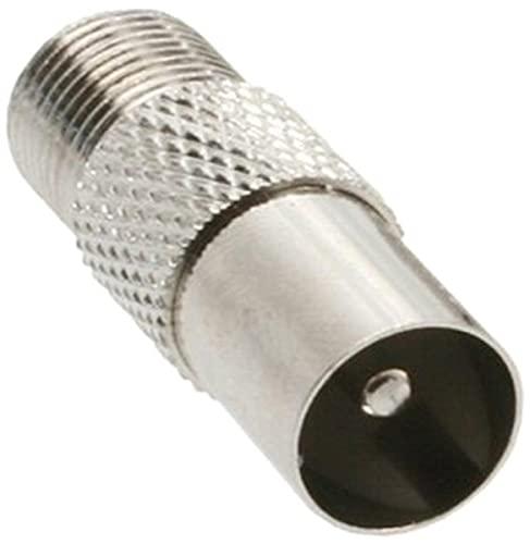InLine 69915D Koaxial Adapter, IEC- Stecker (Antenne) auf F-Buchse