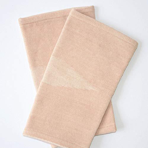 QiKun-Home Rodilleras para Correr Rodilleras de Tela de carbón de bambú Brace Protectores Deportivos Almohadillas ultrafinas Soporte para Rodillas de Seguridad Color de Piel 16x28