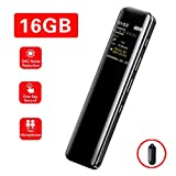 Digital Voice Recorder, 16GB SuperEye USB Dictaphone with MP3 Music Player Microphone Audio Professional...