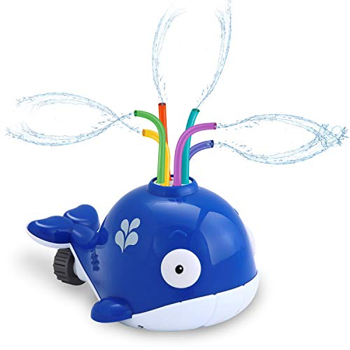 JOYIN Splash Whale Yard Water Sprinkler Lawn Sprinkler for Kids Outdoor Sprinkler Toy
