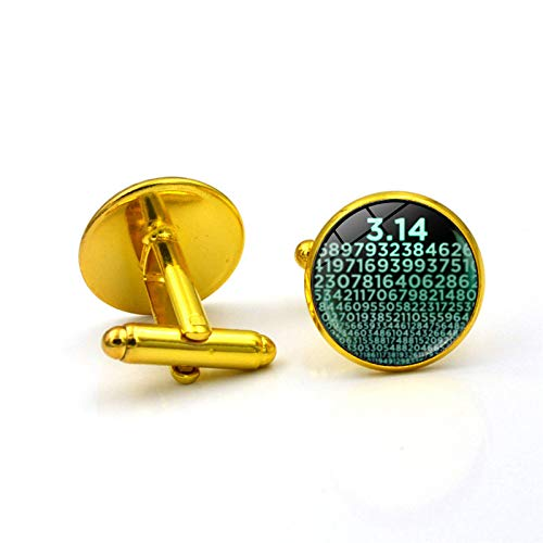 Numbers SymbolCufflinks for Mens Jewelry Accessories Mathematics Math Art Photo Crystal Glass Dome Shirt Cuff Links