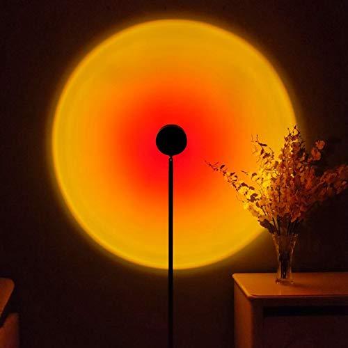 HXSD Lámpara de proyección de luz de luz de Mini Noche, lámpara de pie LED, Adecuada para Dormitorio para niños/Sala de Juegos/Cine en casa/Ambiente de luz Nocturna,Sun