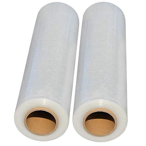 2 Rollen Stretchfolie Palettenfolie Verpackungsfolie Umzugsfolie 23 my ca.1,5 kg/Pro Rolle Transparent