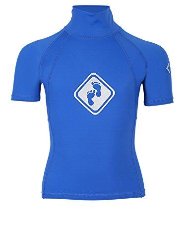Two Bare Feet Rash Vest Maillot de surf à manches courtes - Unisexe pour adulte et enfant Lycra Protection UV50, femme Homme Enfant, bleu, Kids L