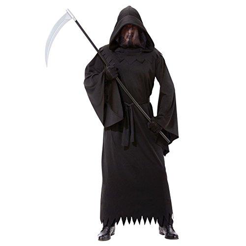 Herren Deluxe-Phantom Of Darkness, Sensenmann schwarz Mantel Herren Bademantel, Einheitsgröße, passend für die meisten Standard-Medium/Halloween-Kostüm