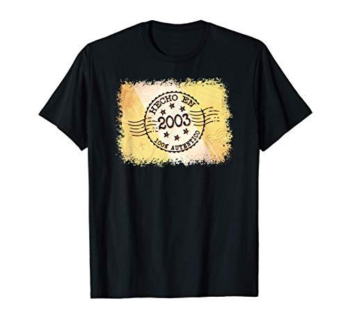 17 Cumpleaños Sobrino Regalo de 17 años Tío 2003 Camiseta