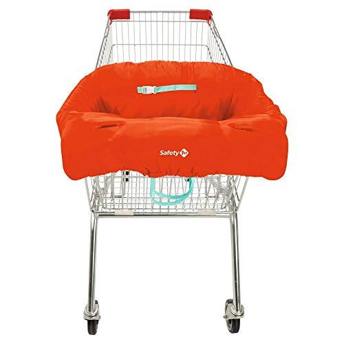 Safety 1st Einkaufswagen-Hygieneschutz für das Kind, Haltegurt für optimale Sicherheit, platzsparend in der Transporttasche verstaubar, rot
