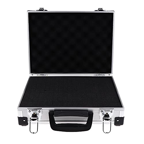 BWCGA Accessoires D'OUTIL DE Barber Aluminium Case Cosmétique Case de Coiffure Style Rack Rack Vatégorie-Silver
