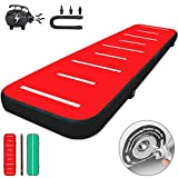 LOVSHARE Air Track, 13ft Inflatable Air Track Tumbling Mat with Electric Air Pump, 8in Thickness Tumble Track Mats for Gymnastics/Cheerleading/Yoga/Home Use (Green&Red, Dual Colors)