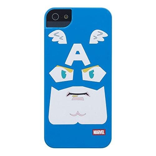 Anymode Marvel Capitan America Custodia per iPhone 5/5s/5 SE, Azzurro