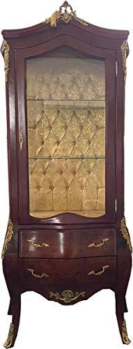 Casa Padrino Vitrina barroca marrón/latón - Vitrina - Mueble de Sala - Vitrina de Vidrio - Muebles de Estilo Antiguo