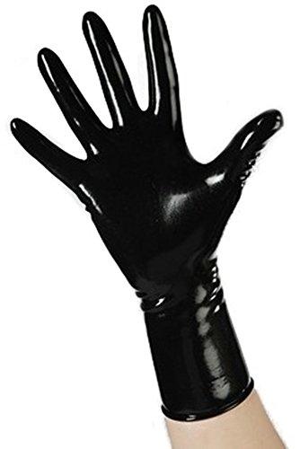 Latexhandschuhe Kurze Latexhandschuhe Gummihandschuhe Kurz Latex Schwarz Rubber 1510, Farbe:Schwarz;Größe:XS