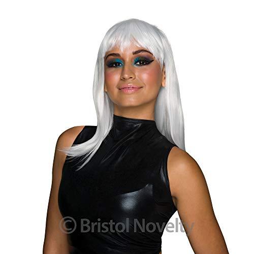 Bristol Novelty Bw856 Chic Perruque de poupée, Blanc, Taille Unique