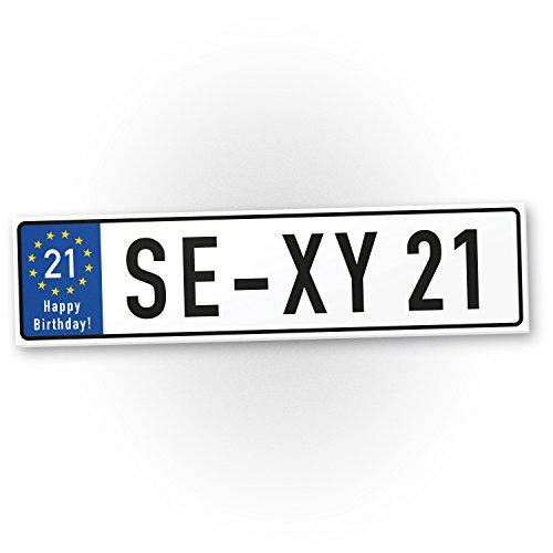 Bedankt! Sexy 21 jaar plastic bord jaren - Cadeau 21e verjaardag, cadeau-idee verjaardagscadeau eenenthousiastste verjaardagsdeco/party accessoires/verjaardagskaart