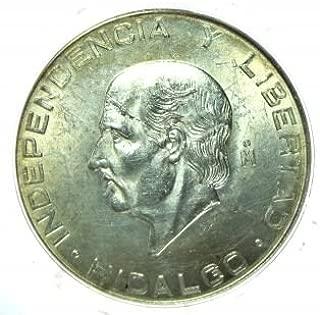 1956 Mexico 10 Pesos -- Hidalgo Commemorative -- Diez Pesos