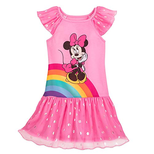 Disney Minnie Mouse Deluxe Nightshirt for Girls- Size 4