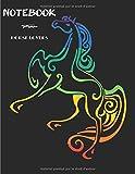 Notebook for Horse Lovers: Carnet de notes ligné vierge, pour les amoureux des chevaux | adolescents | enfants | filles | Garçons | Femmes | idéal comme Cadeau | parfait pour la rédaction.