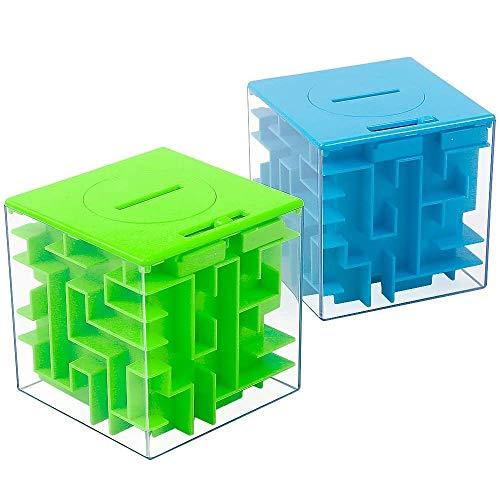 2 Pack Money Maze Puzzle Box