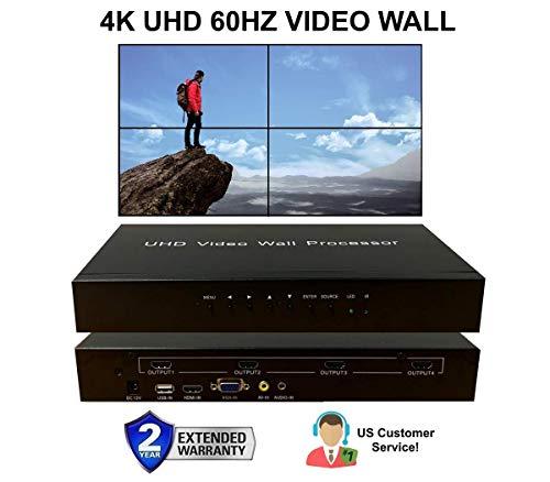 2x2 4K 60Hz UHD Video Wall HDMI Prozessor HDTV 1080p Controller Computer Spllicer 180° drehbar 2x2 1x2 2x1 3x1 1x3 4x1 1x4