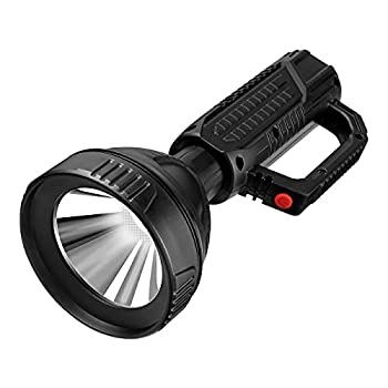 Skywolfeye Super Bright LED Handheld Spotlight Tactical Flashlight Rechargeable,High Lumen Flashlight Bulit-in 18650 Battery USB Charging Waterproof 3 Light Modes,Suitable for Hiking Camping