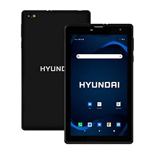 "Hyundai HyTab Plus 7"" IPS Display Tablet, Quad-Core Processor, 2GB RAM, 32GB Storage, Dual Camera, 4G LTE, Android 10 - Black"
