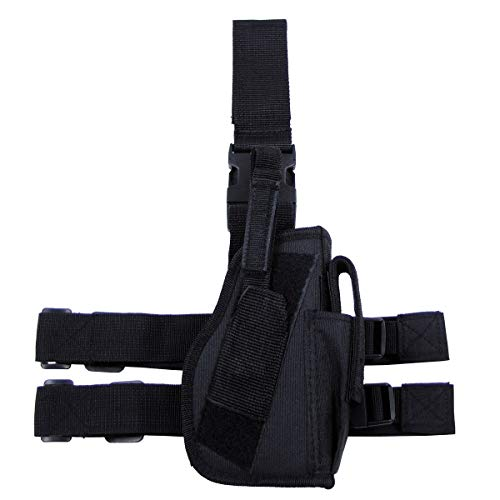 MFH Fondina Gamba Pistola 30725A Attacco Gamba e Cintura Destra (Nero)