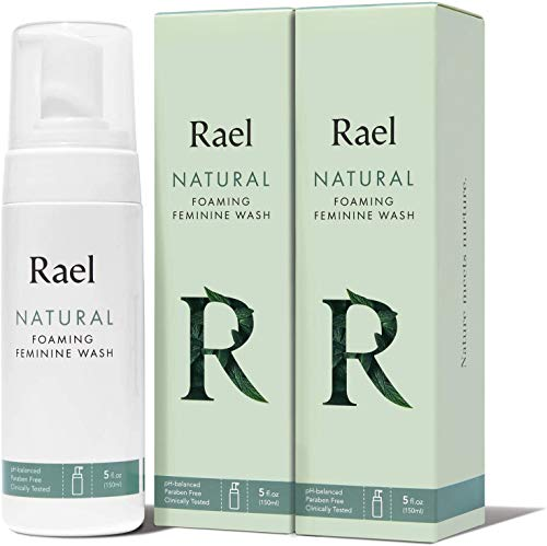 Rael Natural Feminine Cleansing Wash - Gentle Foaming Intimate Wash, pH-Balanced, Sensitive Skin, Unscented, Daily Cleansing Wash, Natural Ingredients (5oz, 2Pack)