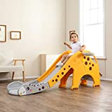 Product Image of the Whitsunday Freestanding Climber Game Slide for Kids with Basketball and Hoop...