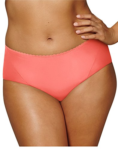 Playtex Women's Incredibly Smooth Cheeky Hipster, Coral Punch, X Large